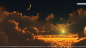 Amazing-Scene-With-Sunset-Moon
